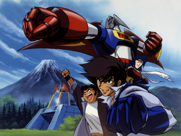 Akira, Ken and Joe (left to right) pilot the giant robot Gekiganger 3 in the science fiction parody/ animated movie, ``Martian Successor Nadesico.'' courtesy © XEBCO/Project NADESICO TV Tokyo.